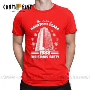 Мужская футболка Nakatomi Plaza Funny Short Sleeve Christmas Party 1988 футболка O-образным вырезом одежда хлопок 4XL 5XL футболка Y200409