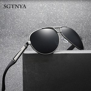 SGTNYA Men's classic polarized sunglasses large frame retro trend sunglasses anti-UV glasses UV400