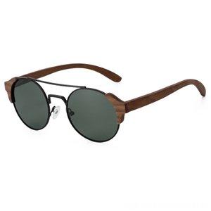 New product Men Women Retro Round Wood Polarized Lens New product Men Women Retro Round Wood Sunglasses Polarized Lens Sunglasses