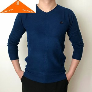 Men's Sweaters Men Winter Sweater 2021 Bottom Warm Pullovers V Neck Slim Fit Mens Clothing Casual Tops Male Pullover 08LW982