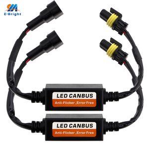 2PCS LED Decoder H1 H3 H4 9005 9006 H7 H11 Aviso Erro gratuito Canceller Anti Flicker para faróis de resistor de carga Canbus 9-36V