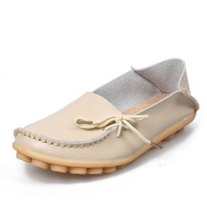 оранжевый женщины натуральная кожа обувь мокасины мать мокасины мягкий досуг женский вождение два способа носить обувь