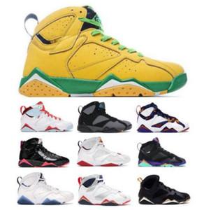 Top 7 7s Basketball Chaussures Pour Hommes Femmes Oregon Ducks Bordeaux Hare Raptor White Patent Topaze Mist olympique Zapatilla Formateurs Sneakers chaussures