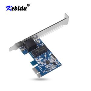 Ethernet 10/100 / 1000M RJ-45 LAN Adapter Converter Controlador de rede placa de rede cartões Kebidu PCI Express PCI-E 1000Mbps Gigabit