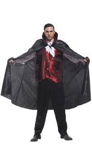 Shanghai Story Halloween Vampire Cosplay Costume Party Clothing for man costume set with cloak Black