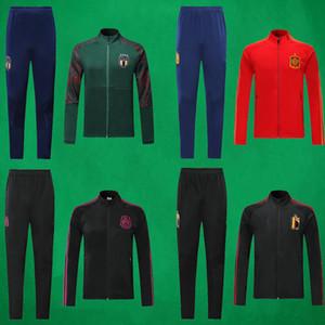 19 20 Bélgica de fútbol chaqueta y pantalones Escudo de Italia de fútbol al aire libre de España de Fútbol Sweatershirt y ropa de entrenamiento de fútbol Pantalón México