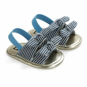 2020 Baby First Walker Summer Fashion Sandals Girls Boys Unisex Toddler Shoes Kids Casual Stripe Wave Point Print Sandals Child Shoes