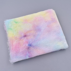 45x160cm Rainbow Color Winter Plush Fabric For DIY Home Textile Clothes Artificial Fur Fabric Sewing Materials