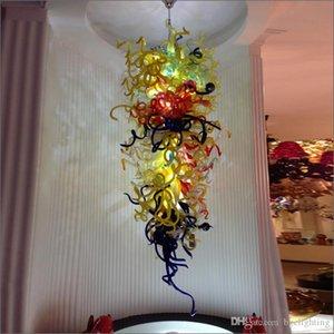 Nuovo Garanzia arrivo libero variopinto Bocca Spedizione Soffiato 110v / 120v lampadine LED Ristorante decorativo Dale Chihully Stile Blown Glass Chandelier