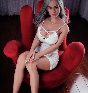 165cm Echt Silikon-Geschlechts-Puppen Big Ass Anal Vagina Oral Sexy Toys Adult Love Doll mit riesigen Titten für Männer