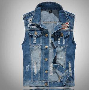Primavera 2020 de los nuevos hombres del dril de algodón del chaleco locomotora chaleco chaleco chalecos casuales capa de la chaqueta de los pantalones vaqueros
