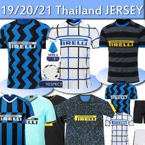 20 21 Inter de Milão 2019 camisas de futebol 2020 Lukaku LAUTARO SKRINIAR GODIN SENSI ALEXIS SENSI Barella kit camisa de futebol camisas Homens Crianças tailandesas