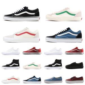 Sale barato Old School Fear Of God lona Zapatos de cada tamaño para mujer para hombre Triple Negro Blanco Rojo Bule Moda Deportes zapatillas de deporte 36-44