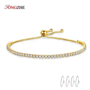 KALETINE Charms Bracelets For Women 925 Sterling Silver Blue Pink White CZ Tennis Beads Link Rose Gold Luxury Mens Jewelry 18""