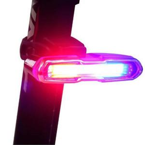 Batería de litio recargable USB frontal luz trasera para bicicleta luz trasera LED Casco Ciclismo luz de la lámpara del montaje Accesorios de bicicletas