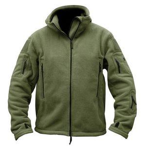 Herren-Winterjacken Fleece ReißverschlussHoodie Langarm-T-Shirt Tactical Military Anzug Jacken-Oberbekleidung-Mantel-Kleidung