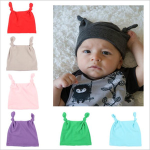 Cappelli bambino Solid Twist annodata Skull Caps Newborn Moda Cappello bambino Turbante elastico Beanie indiano Infant Hat Head Wrap Accessori C7254