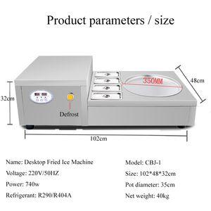 Tay Fried Buz Fried Yoğurt Makinesi / Buz Rulo Makinesi Dondurma Makinesi / Çok fonksiyonlu Akıllı Cihaz