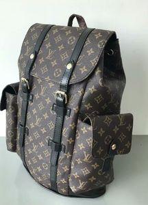2020New Mike mochila saco de viagem pu material de grade preta backpack003 alta qualidade
