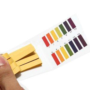 80 tiras de pH tiras de prueba del acuario de la charca de análisis de agua PH papel de tornasol gama completa ácido alcalino 1-14 papel de tornasol de prueba
