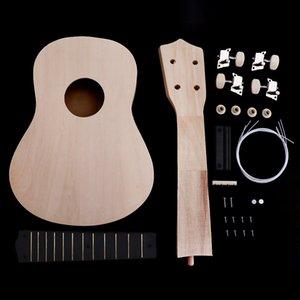 21 Inch simples Ukulele DIY Kit Hawaii guitarra Handwork Suporte Pintura Crianças