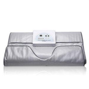 Novo modelo 2 Zona FIR sauna do infravermelho distante corpo emagrecimento sauna terapia aquecimento COBERTOR Magro saco SPA máquina de desintoxicação do corpo EMAGRECIMENTO