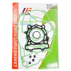 Para KX250F KX250 F 90-13 motocicleta Cubiertas cárter del motor de cilindro conjunto kit Gasket