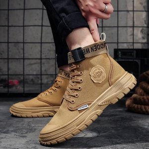 Hot Sale-Fashionable fashionable high-top sneakers for running in autumn and winter Men casual shoes Sole antiskid Short leather cs06