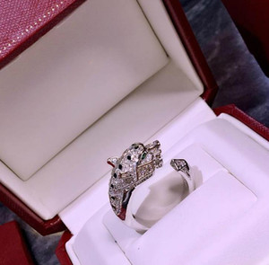 Jewelry Ring Woman PANTHÈRE DE C Series Animal Leopard Head Open Ring Wedding Banquet Jewelry