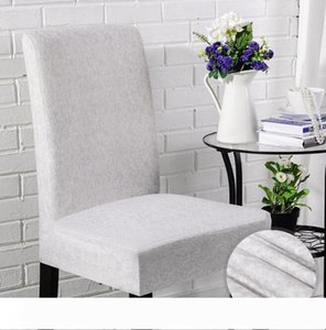 Plain linen chair covers universal size Simple and short family hotel computer dining chair elastic wedding chair covers
