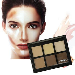 free ship MYG Brand Bronzers Highlighters Professional Makeup Concealer Powder Palette natural 6colors Contour Face Make Up Corretivo Pores