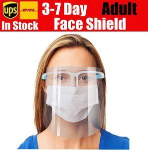 새로운 쉴드 전체 얼굴 가리개 마스크 안전 오일 스플래쉬 증명 안티 UV 보호 PET 페이스 커버 투명 얼굴 유리 3-7일 DHF278 마스크