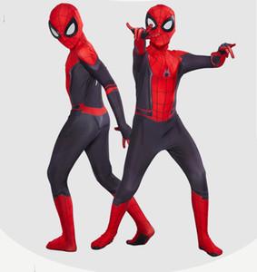 Хэллоуин Дети Человек-паук Far From Home Peter Parker Косплей Zentai Человек-паук Superhero BodySuit Костюм Комбинезоны