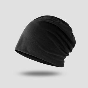 2020 Nueva algodón elástico turbante sombrero sólido hombre de color Cálido Invierno Pañuelo Capó Interior Hijabs casquillo musulmán Hijab femme envoltura de la cabeza