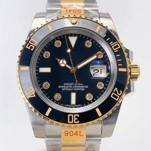 N super2 diamond watch montre DE luxe 904L steel belt 2836-3135 super blue spring automatic watch mechanical movement Mozambique's drill
