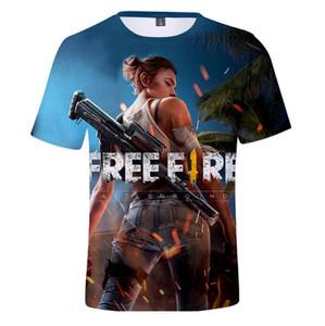 Gratuit Feu Imprimé 3D Hommes Casual T-shirts d'été Homme Femme ras du cou à manches courtes T-shirts Nouveau T-shirts