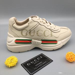 Gucci Tasche di lusso rosso uomini e donne scarpe casual scarpe sportive moda G bassa piana casuale delle donne degli uomini all'aperto Zapatillas scarpe da guida