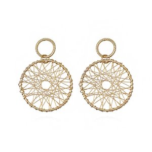 2019 New Fashion  Simple Big Round Earrings for Women Fashion Korean Style Hollow Mesh Drop Earrings Statement Jewelry
