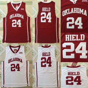 NCAA de amigos Hield 24 Universidad de Oklahoma Sooners camisetas de baloncesto de la universidad joven Trae Jersey Venta del color del equipo rojo uniforme ausente del deporte blanco