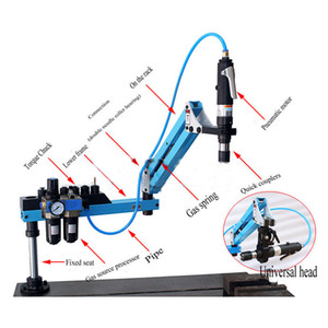 Pneumatic Air Drill Tools M3-M16 Vertical Type Pneumatic Tapping Machine 250RPM 1000mm Metalworking Tapper Machine with Chucks
