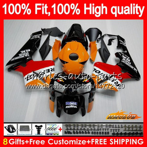 100% Fit Injection Für HONDA CBR 600RR 600F5 CBR 600 RR F5 05 06 80HC.0 CBR600F5 CBR600 RR CBR600RR 2005 2006 05 06 OEM Verkleidungs ​​Repsol Orange