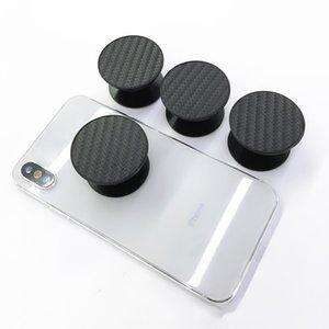 Suporte de Celular Universal Flexível de Fibra De Carbono Real 3 M cola Expansível Suporte de Aperto de 360 Graus Dedo Titular Stent Para iPhone Samsung DHL