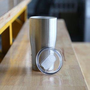 30 oz Coupe cintrée en acier inoxydable Gobelets Double Walled Coupes taille café tasse de bière tasses isothermes avec couvercle Gardez les boissons chaudes à froid plus longtemps A07