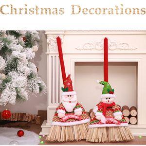 Christmas Santa / Schneemann DIY Reinigungsbesen Abdeckung Werkzeug Besen Kleid Abdeckung Weihnachtsverzierung Sankt-Dekor