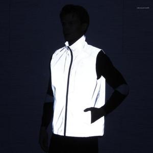 Giyim Casual ceketler 3M Yansıtıcı Erkek Spor Desinger Yelek Bahar 2020 Kolsuz Moda Stil Sonbahar Running