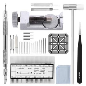 El kit de herramientas para la correa de la correa de reloj, removedor de eslabones de 98 en 1, herramienta de barra de resorte con pines adicionales de 72 piezas, pasador de 15 piezas, soporte de 1 piezas, cabeza de 1 piezas