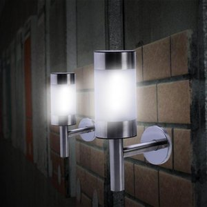 Stainless Steel Solar Light LED Wall Lights Fence Lamp Outdoor Solar Garden Lights Wall Lamp Solar Fence Light for Courtyard landscape