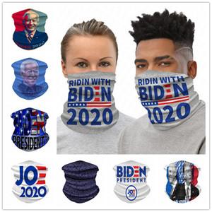 Biden Président 2020 Cyclisme Scarf Printed Femmes Hommes Sports Masque randonnée à vélo extérieur du cou magique Turban adulte visage Masques D61604