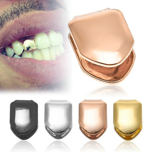 2019 Single Metal Tooth Grillz Gold silver Color Dental Grillz Top Bottom Hiphop Teeth Caps Body Jewelry para mujeres Hombres Fashion Vampire