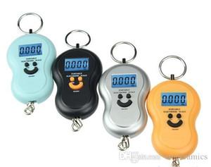 50Kg 10g Portable Handy Pocket Smile Mini Électronique Numérique LCD Échelle Suspendue Crochet De Pêche Bagage Balance Poids Poids Balances Gourde